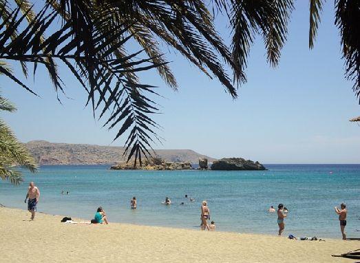 Один из самых популярных пляжей восточного Крита - Пальмовый пляж Ваи